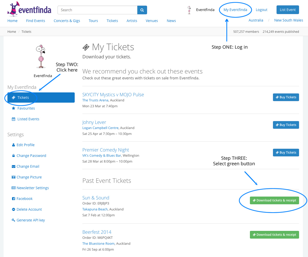 how can i get a receipt or tax invoice for my ticket purchase, Invoice examples